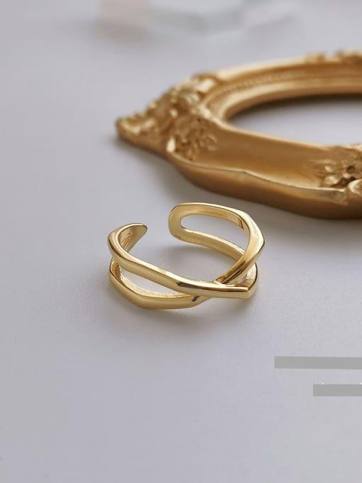 HYACINTH Copper Alloy Geometric Minimalist Ring 0