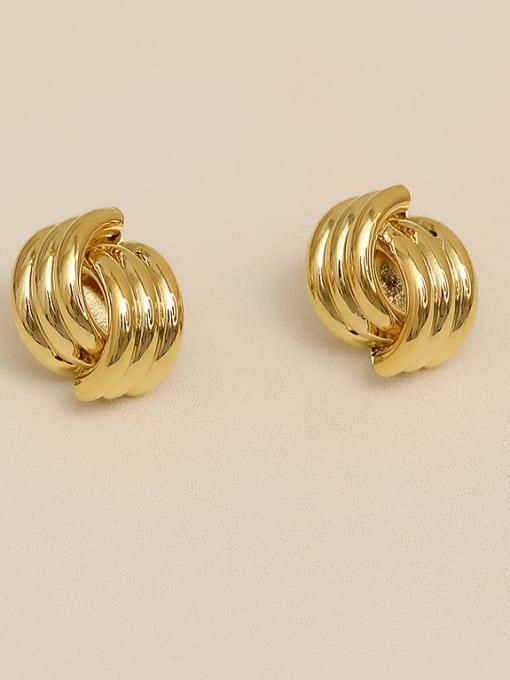golden Alloy Geometric Earring