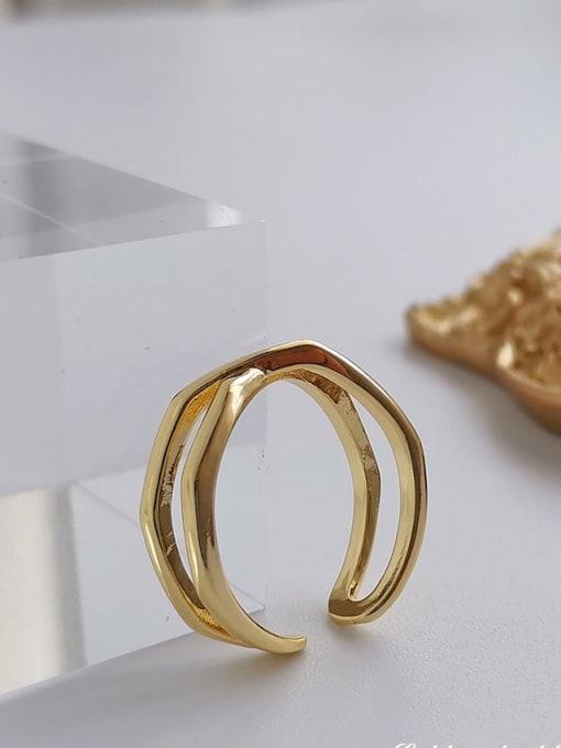 HYACINTH Copper Alloy Geometric Minimalist Ring 2