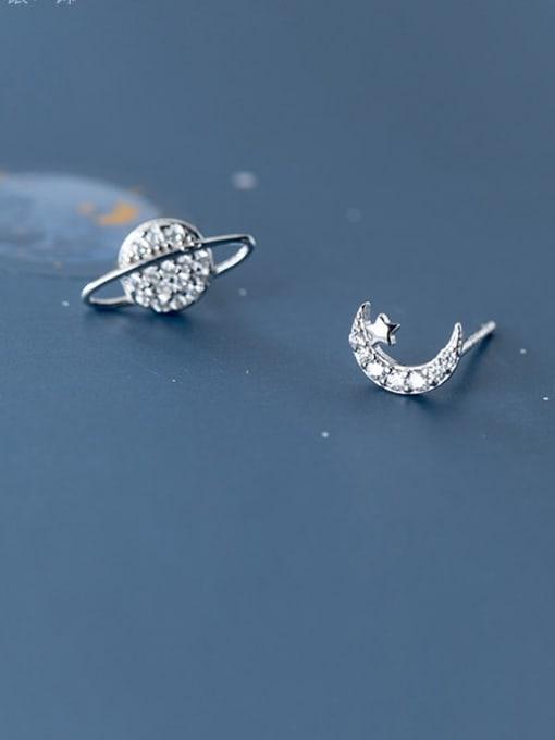 Rosh 925 Sterling Silver White Dainty Stud Earring 1