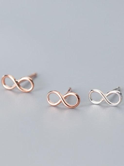 Rosh 925 Sterling Silver Number Minimalist Stud Earring 4