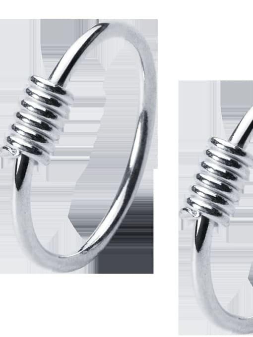 Rosh 925 Sterling Silver Geometric Minimalist Hoop Earring 4