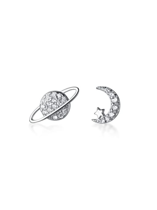 Rosh 925 Sterling Silver White Dainty Stud Earring 4