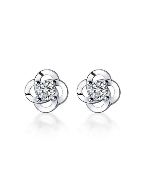 Rosh 925 Sterling Silver Flower Dainty Stud Earring 4