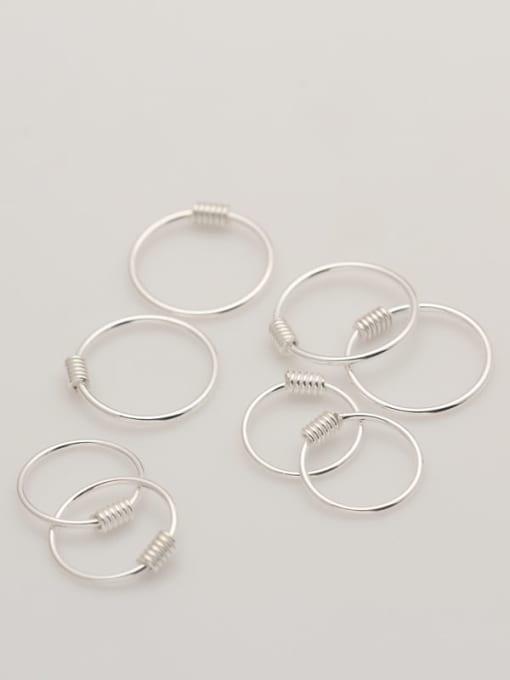 Rosh 925 Sterling Silver Geometric Minimalist Hoop Earring 2