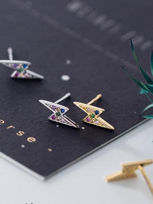 Rosh 925 Sterling Silver Dainty Stud Earring 3