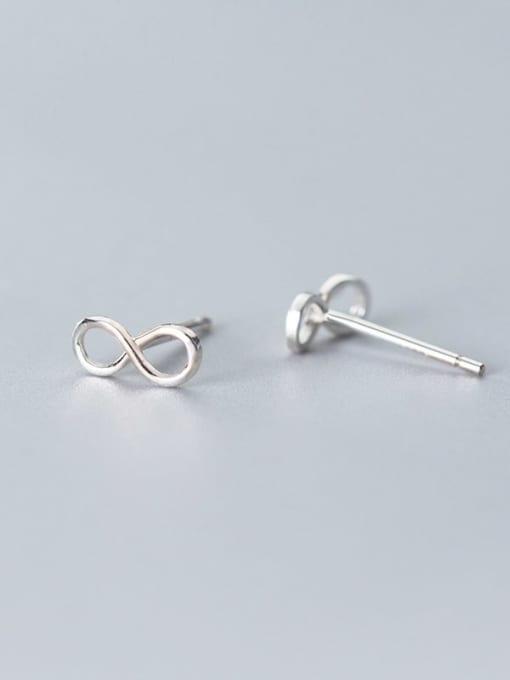 Rosh 925 Sterling Silver Number Minimalist Stud Earring 3