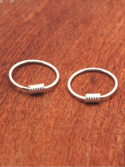 Rosh 925 Sterling Silver Geometric Minimalist Hoop Earring