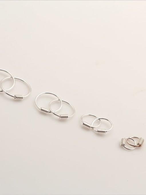 Rosh 925 Sterling Silver Geometric Minimalist Hoop Earring 1