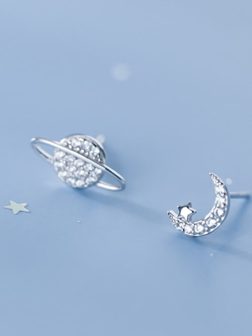 Rosh 925 Sterling Silver White Dainty Stud Earring 0