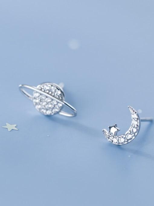 Rosh 925 Sterling Silver White Dainty Stud Earring