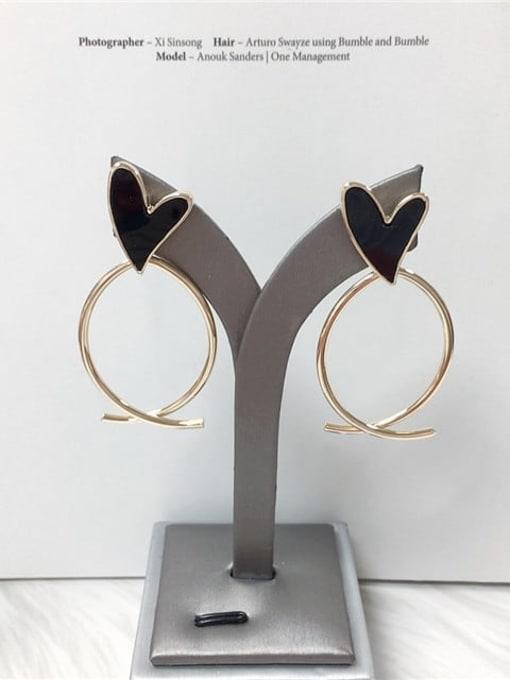 KEVIN Zinc Alloy Acrylic Heart Trend Drop Earring