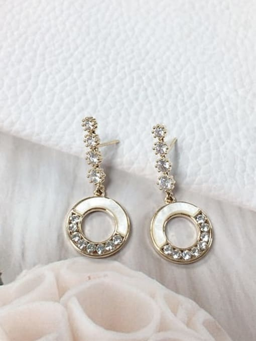 KEVIN Zinc Alloy Shell Round Trend Drop Earring 0