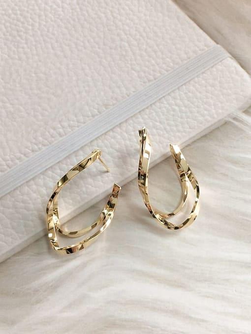 KEVIN Brass Irregular Trend Stud Earring