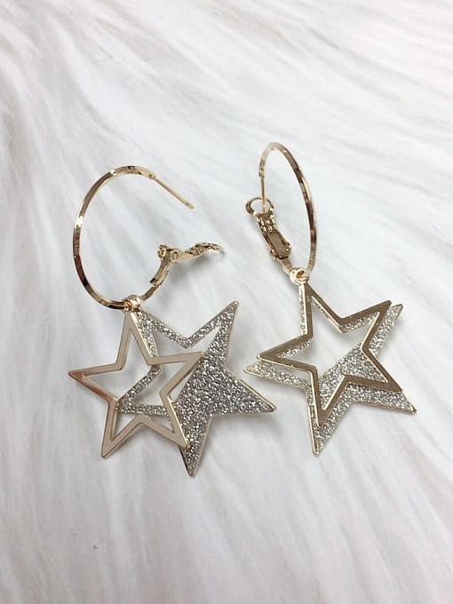 KEVIN Zinc Alloy Enamel Star Statement Hook Earring 1