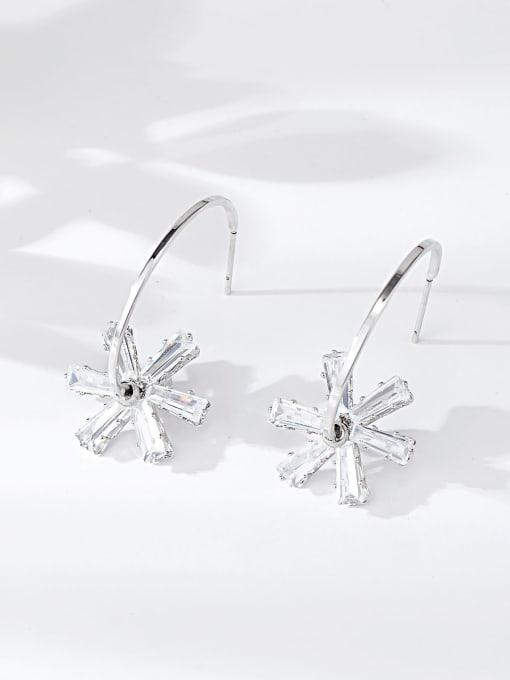 KEVIN Brass Cubic Zirconia Star Trend Hook Earring