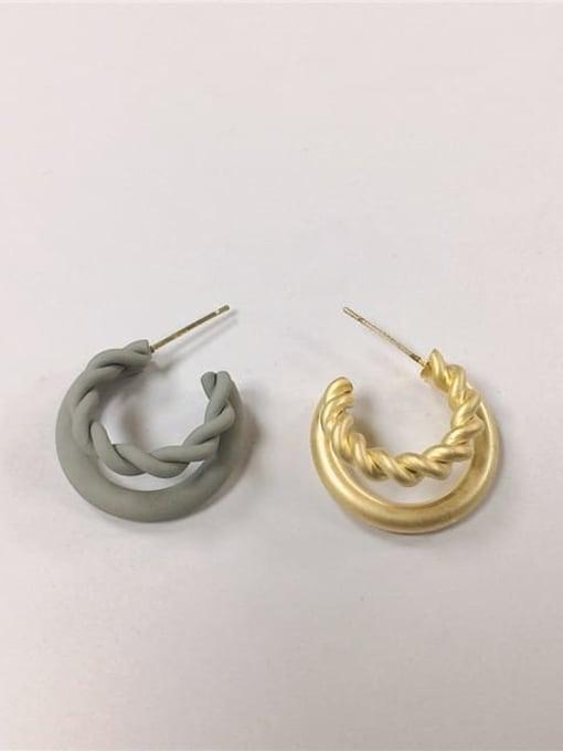 Ibecca Zinc Alloy Enamel Cone Trend Hoop Earring 2