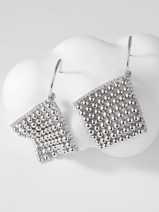 KEVIN Brass Cubic Zirconia Square Trend Drop Earring