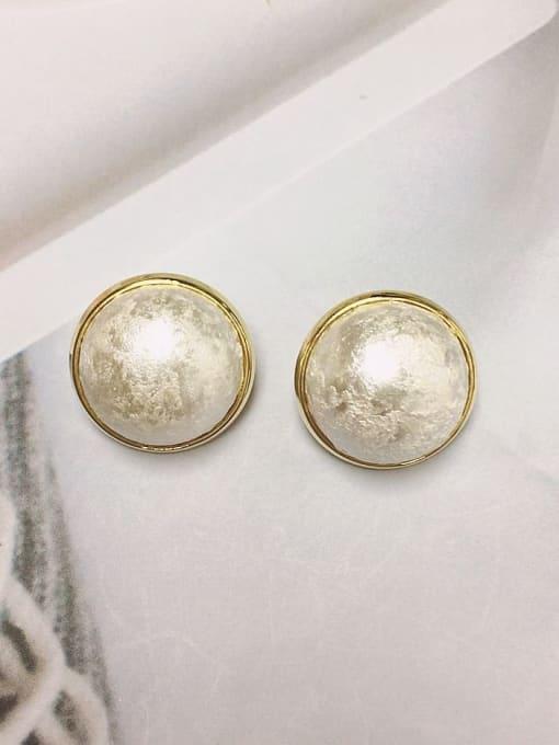 KEVIN Zinc Alloy Imitation Pearl Cone Classic Stud Earring 0