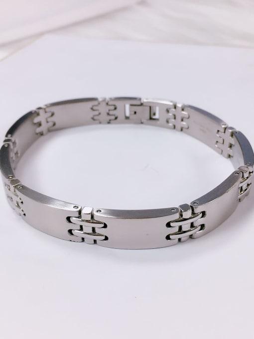 HE-IN Stainless steel Irregular Trend Adjustable Bracelet