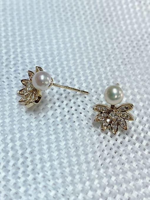 KEVIN Brass Cubic Zirconia Dainty Stud Earring 1