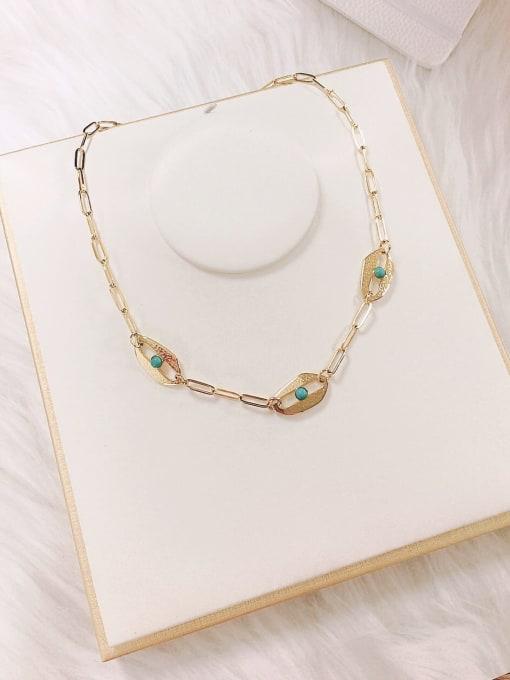 KEVIN Stainless steel Cloisonne Irregular Trend Link Necklace 1