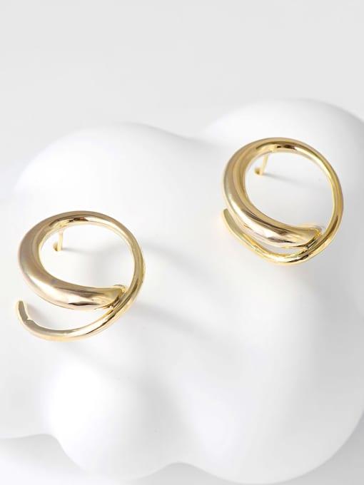 KEVIN Zinc Alloy Oval Trend Stud Earring 0