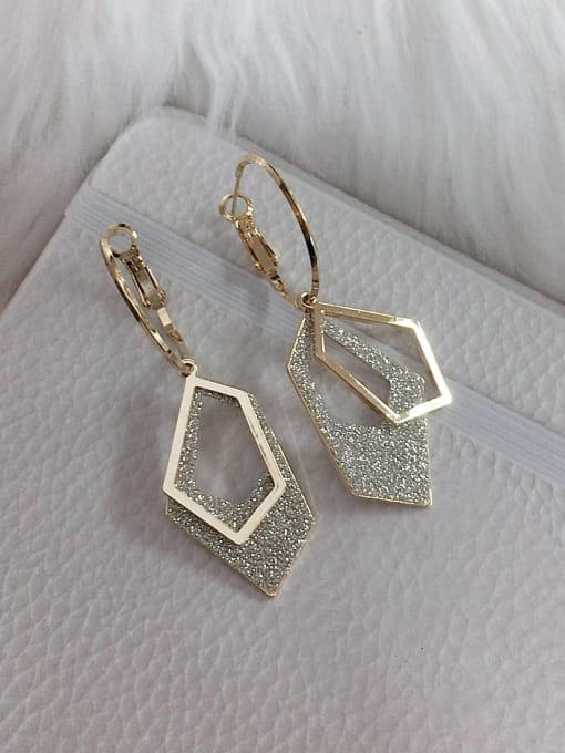 KEVIN Zinc Alloy Enamel Irregular Statement Huggie Earring 0