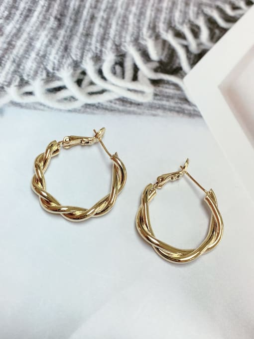 KEVIN Zinc Alloy Round Classic Huggie Earring