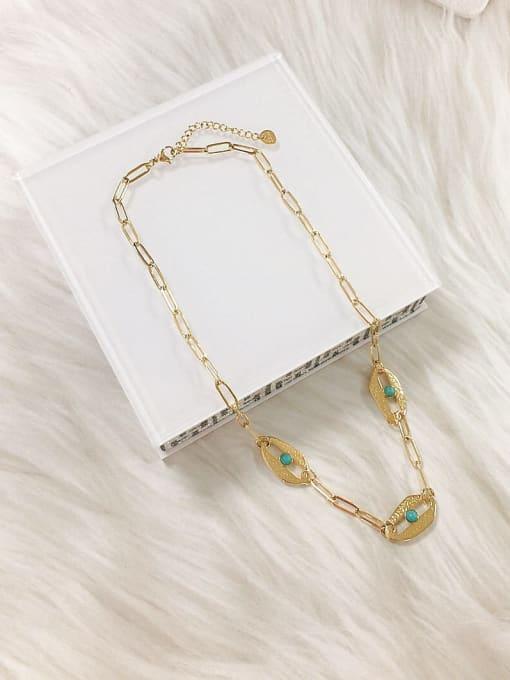 KEVIN Stainless steel Cloisonne Irregular Trend Link Necklace
