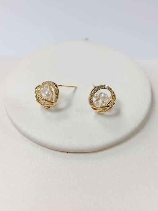 KEVIN Brass Cubic Zirconia Cone Dainty Stud Earring 1