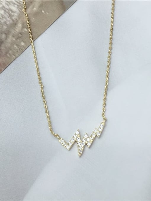 KEVIN 925 Sterling Silver Cubic Zirconia Dainty Initials Necklace