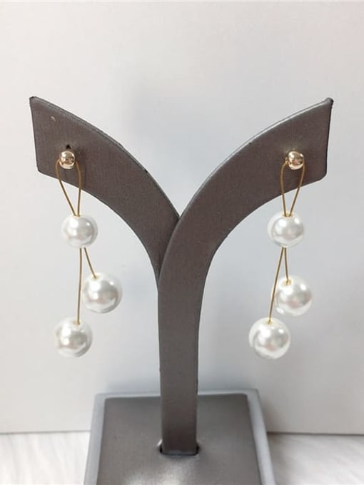 KEVIN Zinc Alloy Imitation Pearl Irregular Trend Drop Earring