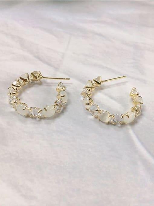 KEVIN Brass Cubic Zirconia Cone Trend Stud Earring 0