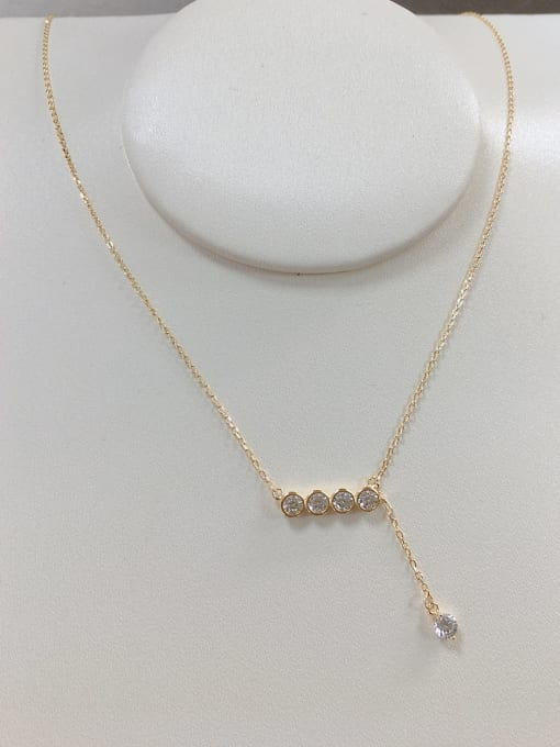 KEVIN 925 Sterling Silver Cubic Zirconia Irregular Dainty Initials Necklace 1
