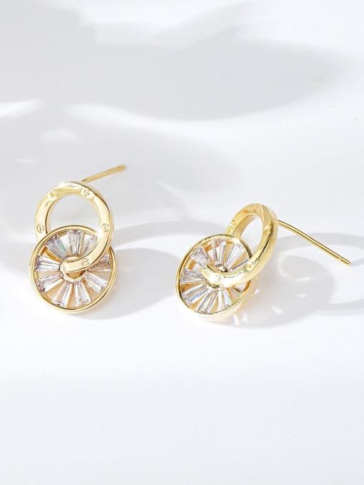 KEVIN Brass Cubic Zirconia Cone Trend Stud Earring