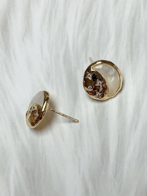 KEVIN Brass Cubic Zirconia Stud Earring 1