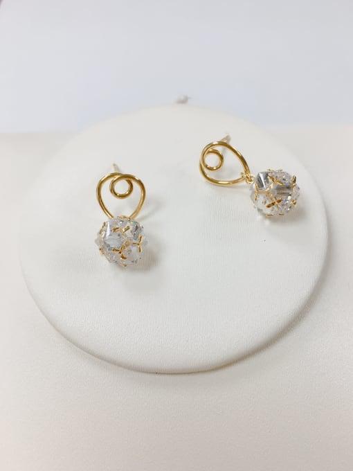 KEVIN Brass Cubic Zirconia Irregular Trend Drop Earring 0