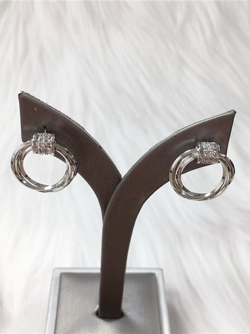 KEVIN Brass Cubic Zirconia Irregular Dainty Stud Earring 1