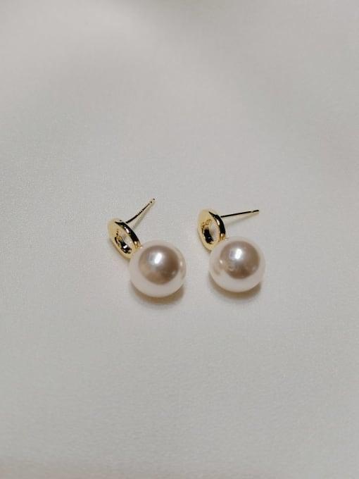 KEVIN Zinc Alloy Imitation Pearl Water Drop Trend Stud Earring 0
