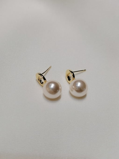 KEVIN Zinc Alloy Imitation Pearl Water Drop Trend Stud Earring