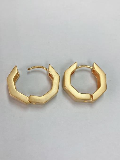 KEVIN Zinc Alloy Hexagon Classic Huggie Earring 0