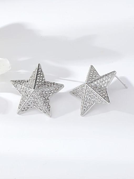 KEVIN Brass Cubic Zirconia Star Dainty Stud Earring 0