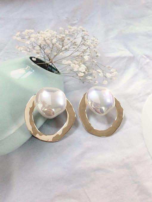 KEVIN Zinc Alloy Imitation Pearl Irregular Trend Stud Earring