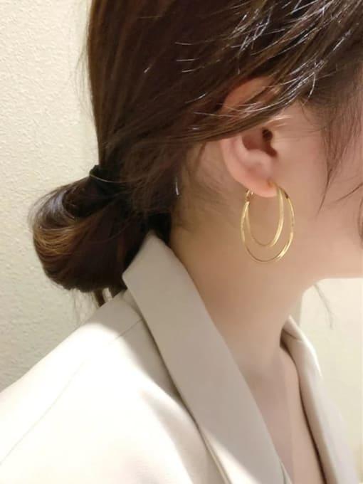 KEVIN Zinc Alloy Cone Trend Hoop Earring 1