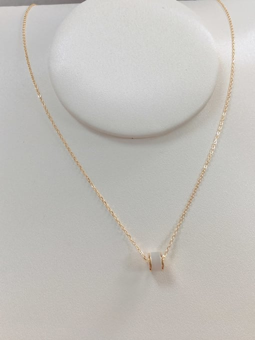 KEVIN 925 Sterling Silver Cats Eye Dainty Initials Necklace 1
