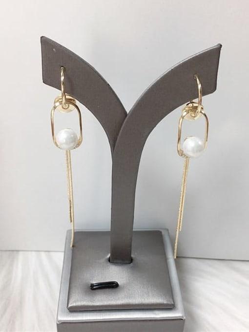 KEVIN Zinc Alloy Imitation Pearl Irregular Trend Threader Earring 0