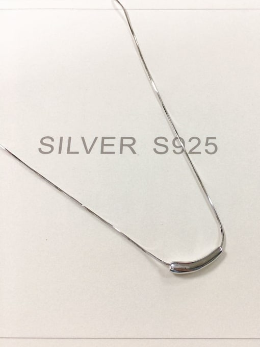 KEVIN 925 Sterling Silver Irregular Dainty Necklace