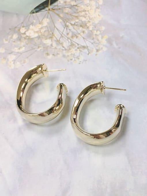 KEVIN Brass Irregular Trend Hoop Earring 1
