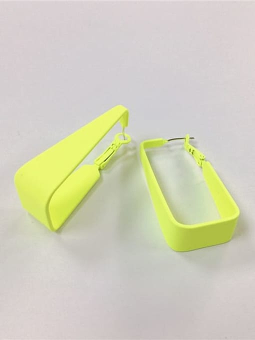 fluorescence color Zinc Alloy Enamel Irregular Trend Huggie Earring